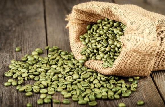 Πράσινος καφές, κόκκοι. Green coffee beans.