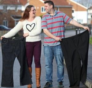 Άντρας και γυναίκα που έχασαν βάρος.
